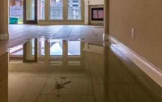 water damage cleanup in home